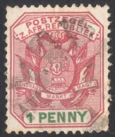 Transvaal, 1 P. 1896, Sc # 167, Used - South Africa (...-1961)