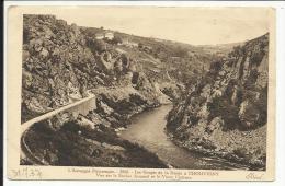 Les Gorges De La Sioule à CHOUVIGNY , Vue Sur Le Rocher Armand Et Le Vieux Château , 1937 - France