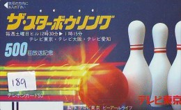 Télécarte JAPON * BOWLING (189) PHONECARD JAPAN * Sport * Telefonkarte * FRONTBAR 110-011 - Sport