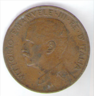 REGNO D' ITALIA - 5 CENTESIMI ITALIA Su PRORA (1909) - VITTORIO EMANUELE III - 1861-1946 : Regno