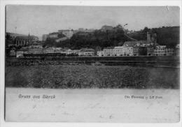57 GRUSS AUS SIERCK Die Festung LE FORT  CARTE PRECURSEUR  1904 EN PREMIER PLAN UN TRAIN - Altri Comuni