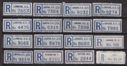 Br_ Very Old Sehr Alte R-Zettel Einschreibzettel - London Notting Hill Paddington - Sonstige