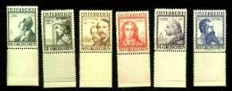 AUSTRIA  1934  MNH OG  591-96  ** - Unused Stamps