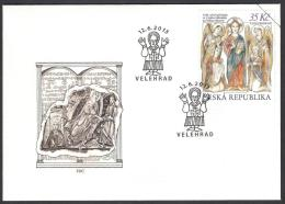 CESKA CZECH 2013 FDC Joint With Slovakia & Vatican, Arrival Of SS. Cyril & Methodius Facing Jesus Christ - Joint Issues