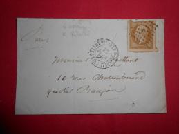 Lot Du 15-06-13.06_lettre De Paris K Retaillé,variété ,4 Voisins;a Etudier - 1849-1876: Classic Period