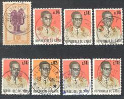 _3v964: Restje Van 8 Zegels.... Om Verder Uit Te Zoeken... - Congo Belge
