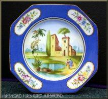 SEVRES ?, Oktogonaler Porzellanteller, Frankreich Um 1900 Marke: SEVRES ? Monogramm GH Rückseite Mit Pressnummer 145 AM - Sèvres (FRA)