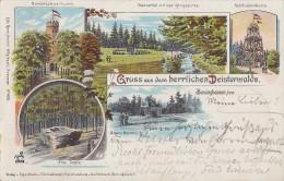 Litho Barsinghausen, Deisterwalde, Alte Taufe,Nordmannsthurm, Wasserfall, Usw. Gelaufen 20.8.00 - Barsinghausen