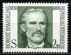 Österreich - Michel 1636 - ** Postfrisch - Robert Hamerling - Wert: 0,50 Mi€ - 1945-.... 2. Republik