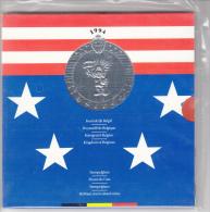1994, Complete Set FDC (NL+FR), 10 Stuks + Medaille, Rode Duivels, WK USA 1994, Nog In Blister Verpakking - 1993-...: Albert II