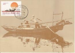 Carte-Maximum MACAO  /  Bateau De Pêche - Macao