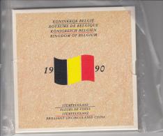 1990, Complete Set FDC (NL+FR), 10 Stuks + Medaille, Nog In Blister Verpakking - 1951-1993: Boudewijn I