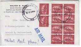United States 1958 Letter,San Francisco To Zurich,10x Mi.653 Mount Vernon,Vignette - Holy Childhood - Verenigde Staten