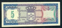 Netherlands Antilles P15b 5 Gulden 1.6.1984. UNC. - Autres - Amérique