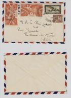 INDOCHINE 1948, Timbres Poste Aérienne Grand Format, Chars De Combat, Pour La Suisse, Lettre