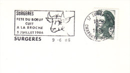 1986 France 17 Surgeres Fete Du Boeuf Concours Agricole Agriculture Farming Agricultura Fattoria Landwirtschaft - Farm