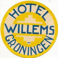 E H 468/ ETIQUETTE  D'HOTEL- HOTEL WILLEMS  GRONINGEN - Hotel Labels