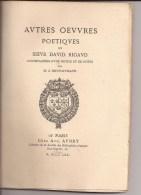 Oeuvres Poetiques Du Sieur David Rigaud  - 1870 - Poetry