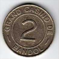 Jeton De Slot : Grand Casino De Bandol : Casino De Bandol : 2 Francs - Casino