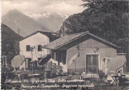 Aosta - Lillianes M. 750 - Ristorante They - Sullo Sfondo Montagna Di Champorcher - Aosta