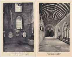CHICHESTER  CATHEDRAL INTERIOR .  TUCK PUBL.  2 CARDS - Chichester