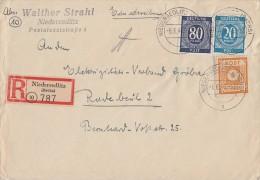 Gemeina. R-Brief Mif Minr.924,935, Ost-Sachsen Minr.59 Niedersedlitz 6.6.46 - Gemeinschaftsausgaben