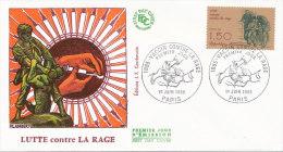 FDC LUTTE CONTRE LA RAGE (Oblit. PARIS Du 1.6.1985) - FDC