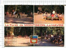 LE HAVRE -  Les Jeux Et Les Promenades En Forêt De  MONTGEON  -  4 Vues - Le Havre