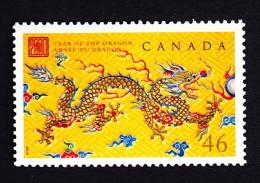 CANADA, 2000, # 1836,    DRAGON  LUNAR YEAR.     MNH - 1952-.... Reinado De Elizabeth II