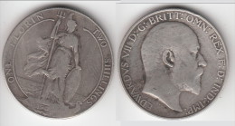 **** GRANDE-BRETAGNE - GREAT-BRITAIN - 1 FLORIN 1909 - 2 SHILLINGS 1909 EDWARD VII - SILVER **** EN ACHAT IMMEDIAT !!! - 1902-1971 : Post-Victorian Coins