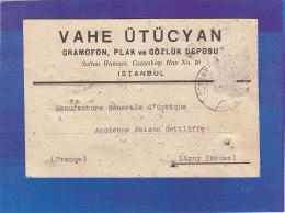 CPA - CONSTANTINOPLE - Vahe Utücyan - Gramofon , Plak Ve Gözlük Deposu - Sultan Hamam , Camcibasi Han - 1934 - Turkey