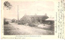 Les Forges (métallurgie), Usines Et Fonderies De Gilly (Charleroi)-1901- Animée-D.V.D. 7022-Oblitération Gembloux (scan) - Charleroi