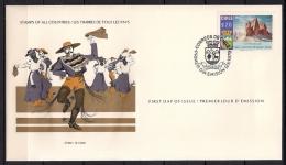 CHILE, SOBRE PRIMER DIA, AÑO 1979, COYHAIQUE CINCUENTENARIO, CERRO CASTILLO, MONTAÑAS - Chili