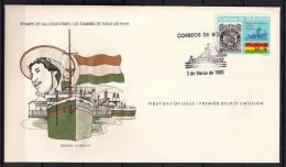 BOLIVIA, AÑO 1980, SOBRE PRIMER DIA, EXPOSICIÓN FILATÉLICA DEL MAR BOLIVIANO - Bolivia