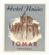 TOMAR ♦ HOTEL UNIÃO ♦ PORTUGAL ♦ VINTAGE LUGGAGE LABEL ♦ 2 SCANS - Hotel Labels