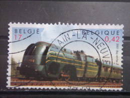 BELGIUM, 2001, Used 17fr, Belgian Natl. Railway Company, Scott 1848 - Used Stamps