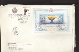 Enveloppe Grand Format, San Marino, Los Angelès Réf 2013 KE - Lettres & Documents