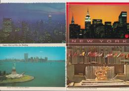 11 POSTCARDS: NEW YORK CITY - USA - 4 Scans - Postkaarten