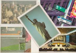 5 POSTCARDS: NEW YORK CITY - USA - 2 Scans - Postkaarten
