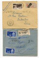 SEINE De  LA GARENNE COLOMBES 2   Enveloppes  Recommandées  De 1951 - Marcophilie (Lettres)