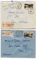 SEINE De  LA GARENNE COLOMBES VALLEES  2   Enveloppes  Recommandées  De 1950 - Marcophilie (Lettres)