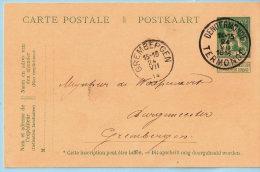 Pwst, Afst. DENDERMONDE / TERMONDE 24/07/1914 Naar GREMBERGEN 24/07/1914 - Postkaarten [1909-34]