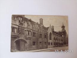 Cambridge. - Pembroke College Old Front. (17 - 8 - 1911) - Cambridge