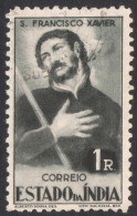 Portuguese India, 1 R. 1946, Sc # 464, Mi # 431, Used - Portuguese India