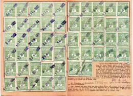 Carte Alsace Lorraine 1933 Guebwiller - Fiscaux