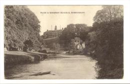 I361 Shrewsbury - River Severn & Grammar Schools / Non Viaggiata - Shropshire