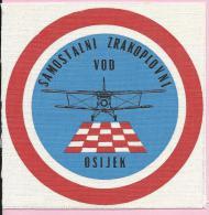 Independent Aviation Platoon Osijek (Samostalni Zrakoplovni Vod), Croatia - RARE - Never Used ! - Escudos En Tela