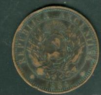 ARGENTINE - 2 Centavos 1889 [TB] Bronze   - Pia5103 - Argentine
