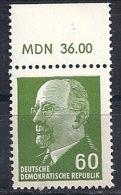 RDA - Série Courante Walter Ulbricht YT 564DA** / Freimarken Walter Ulbricht Mi.Nr. 1080 OR2** - DDR