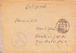 Feldpost WW2: Gr. Kampffliegerschule 1 In Tutow Dtd Tutow 31.7.1942 - Cover Only. Used The Following Aircraft: Do 17, Fw - Militaria